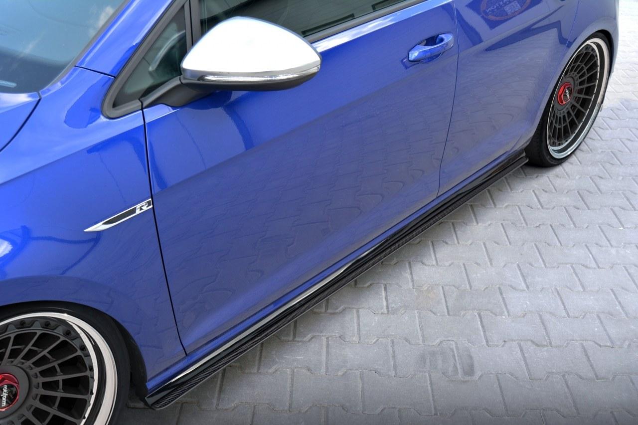 Dokładki Progów Racing VW Golf 7 R Polift - GRUBYGARAGE - Sklep Tuningowy